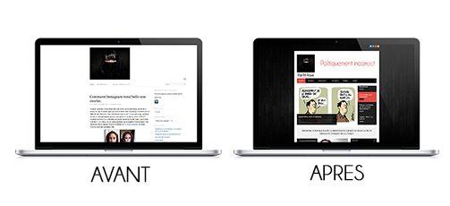 Refonte site internet avant et après