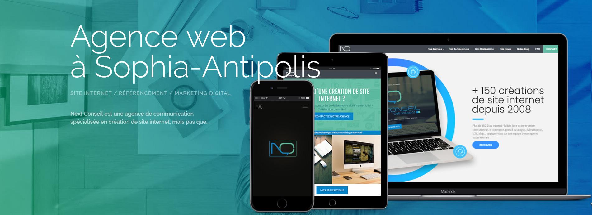 Agence web à Sophia-Antipolis - création de site internet