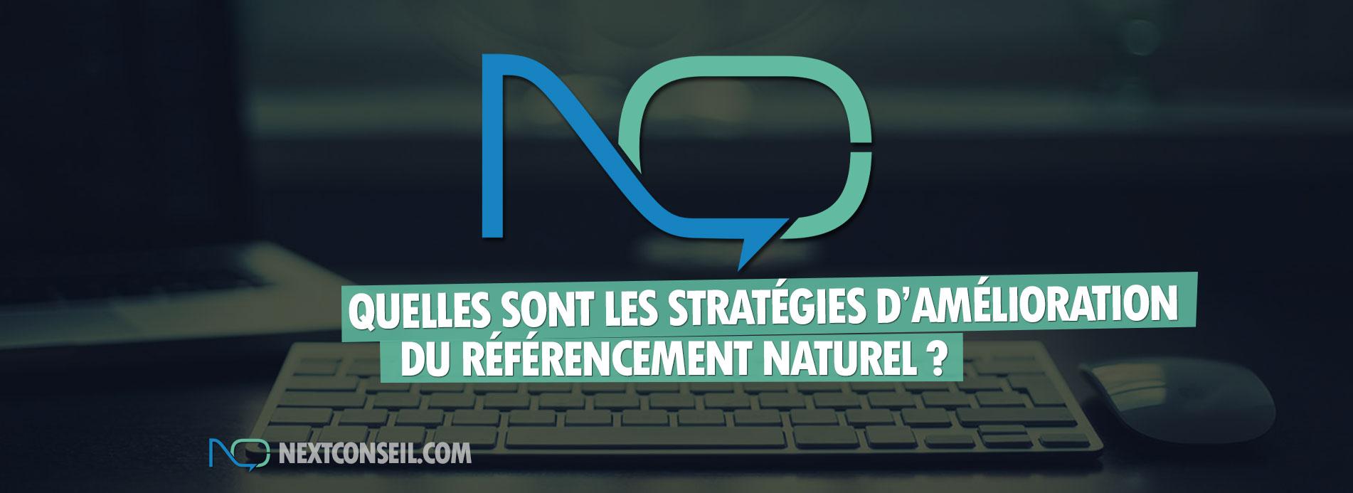 Quelles sont les stratégies d'amélioration du référencement naturel ?