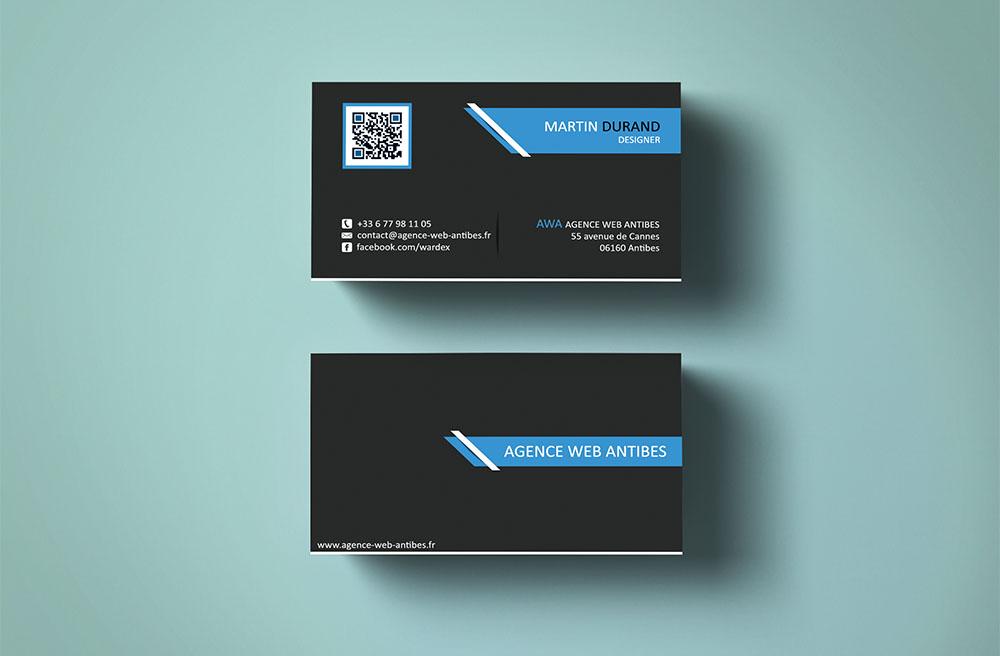 Design Carte De Visite Agence Web