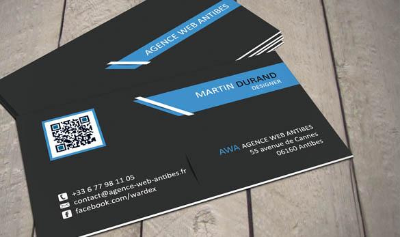 Carte de visite - Designer - Agence Web Antibes