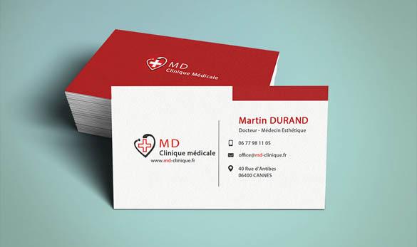 Carte de visite docteur médecin - Agence de communication