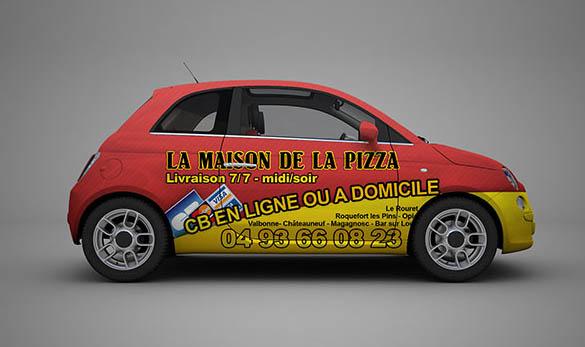 identite visuelle logo publicite pizzeria 06330 roquefort les pins