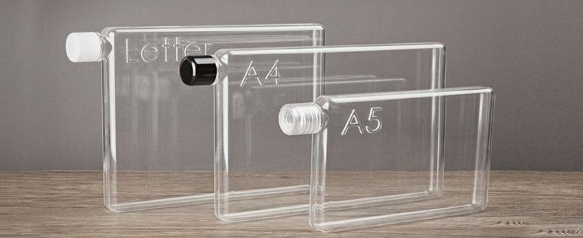 Memobottle – une nouvelle bouteille d'eau au format papier