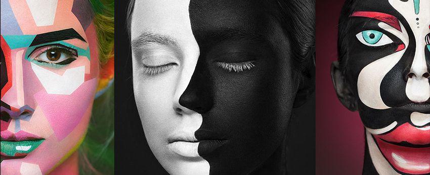 D'incroyables toiles d'artistes célèbres maquillées en 2D sur des visages de femmes !