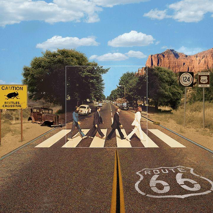 Beatles abbey road reprise design
