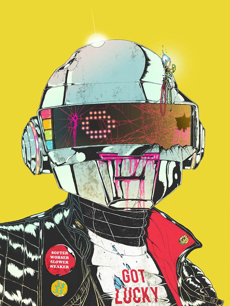 Boneface illustration daft punk1