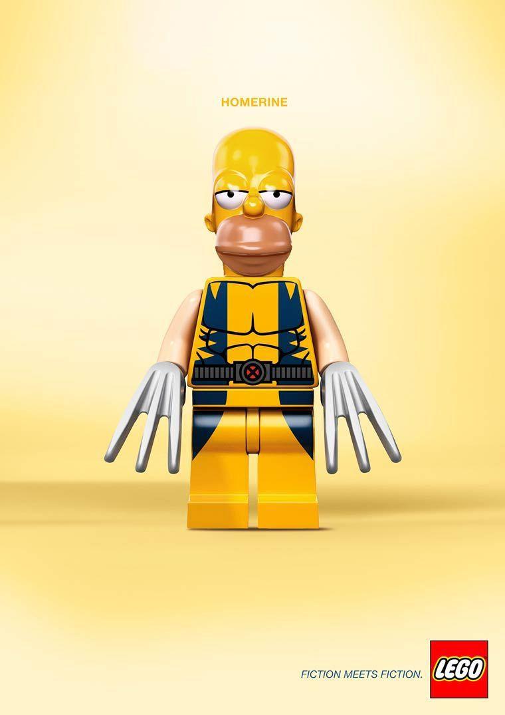 lego mashup homer wolverine