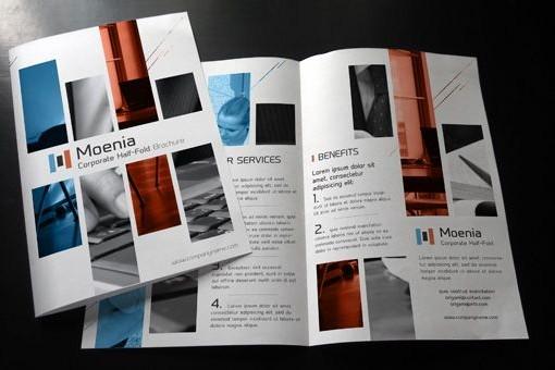 Plaquette commerciale 2 Volets - Plis roulés - Format A4