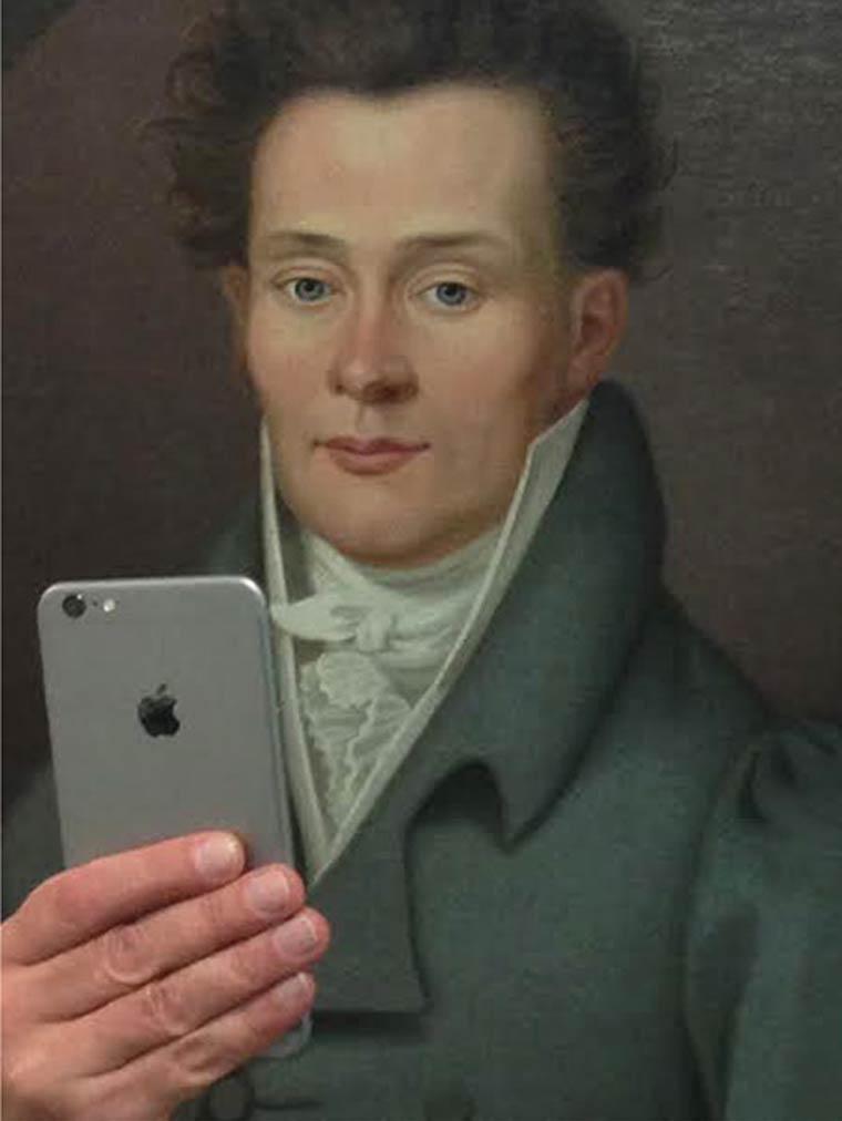 selfie peinture