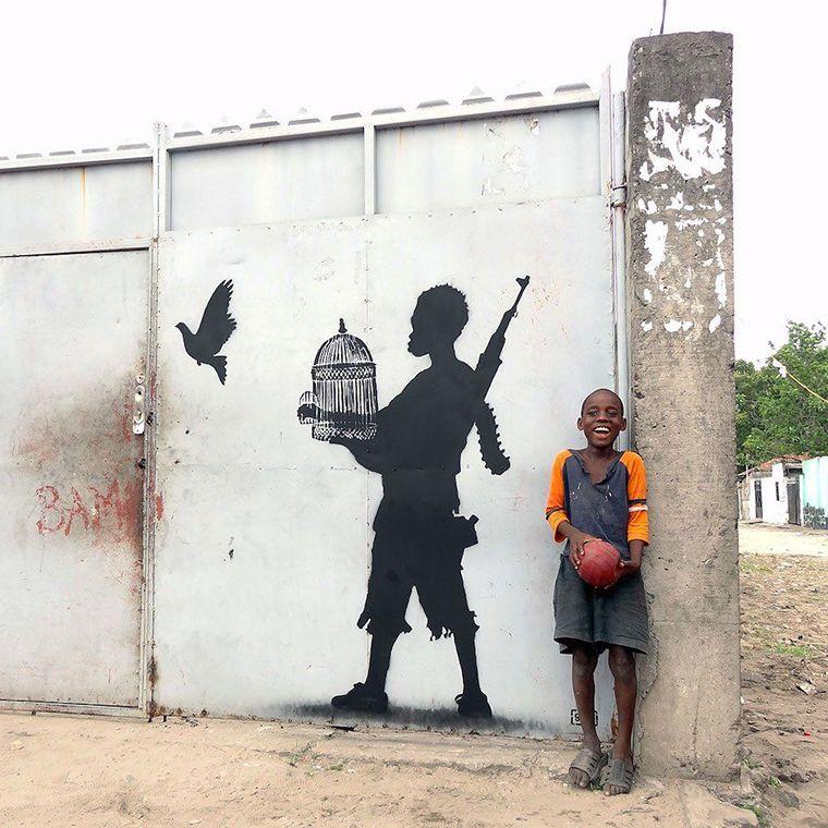Street Art Kinshasa Congo Paix colombe