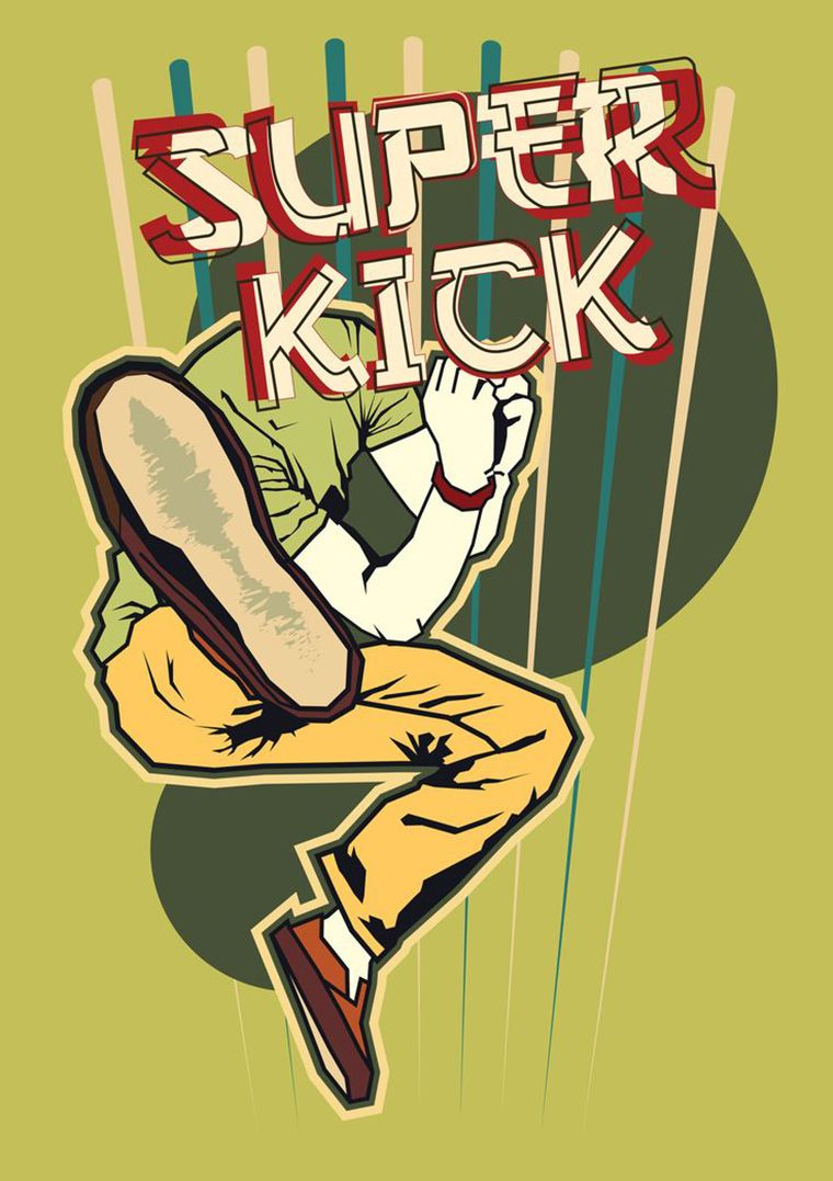 super kick illustration