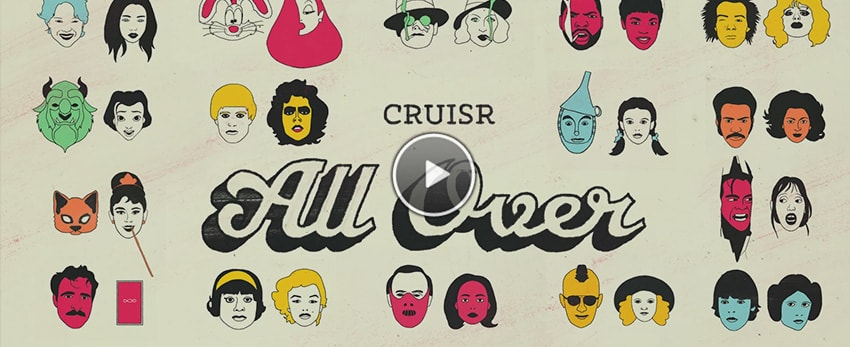 All Over / Cruisr – Une animation remplie de références Pop culture