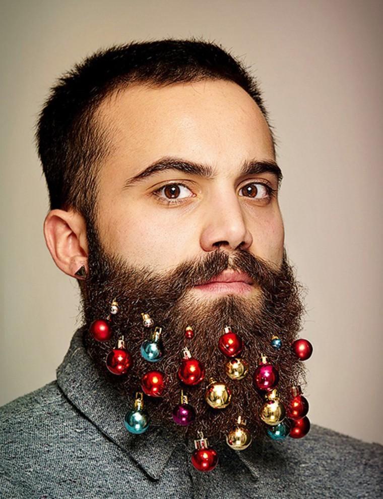 hipster barbe boules de noel