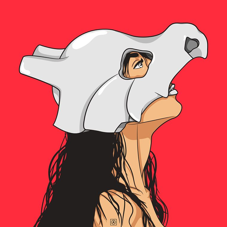 kelvinheslop femme loup masque