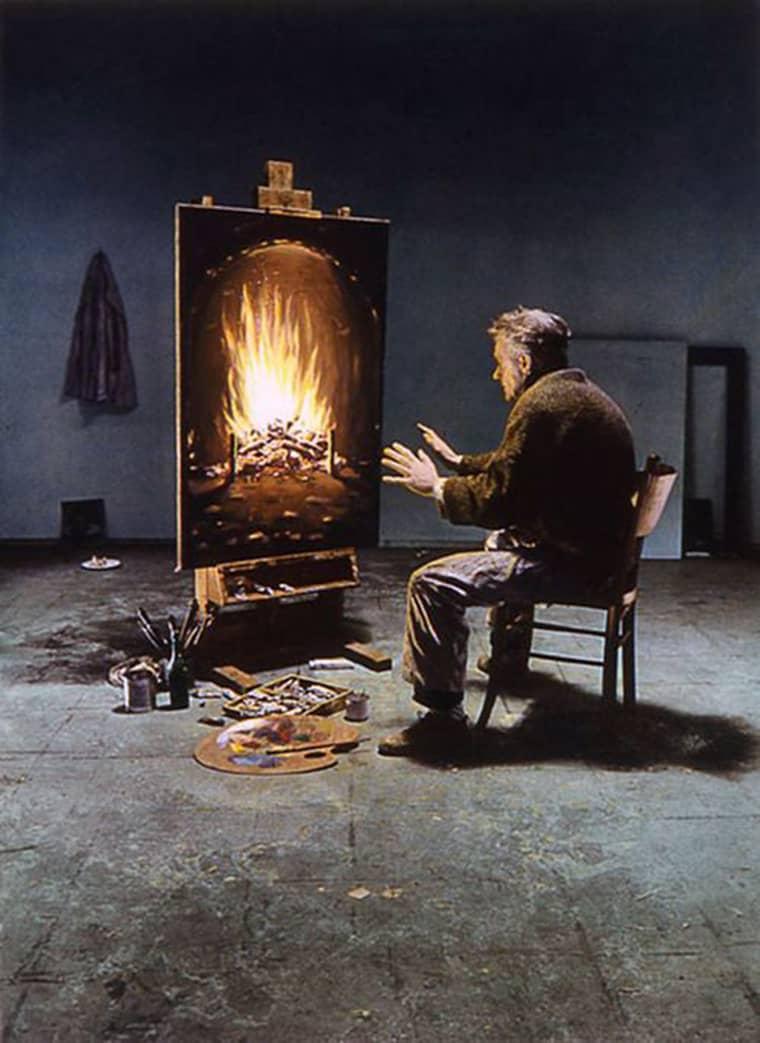 peinture-cheminee-realiste