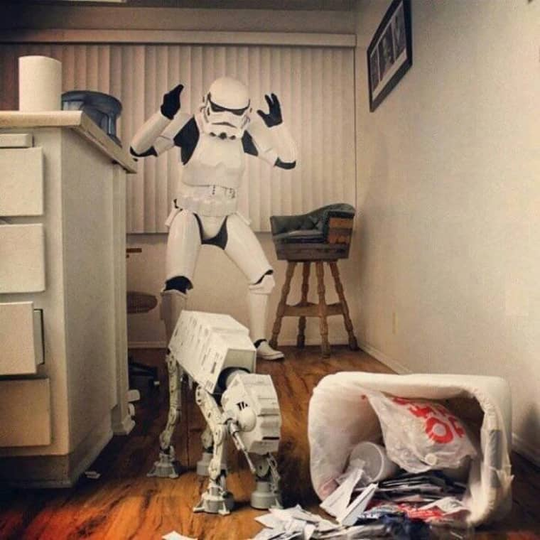 Starwars trooper with dog