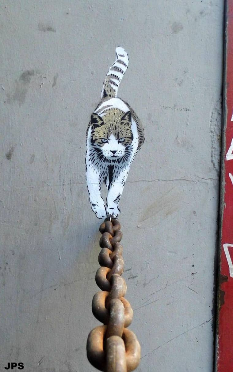 street-art-chat-qui-marche