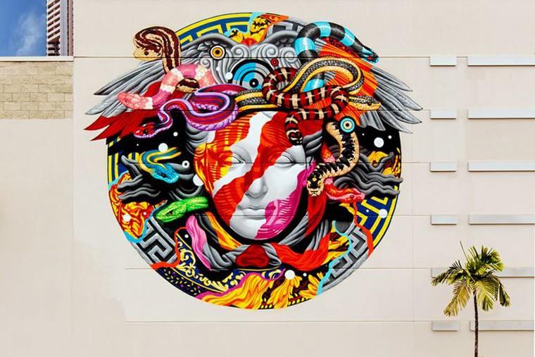 versace mural street art