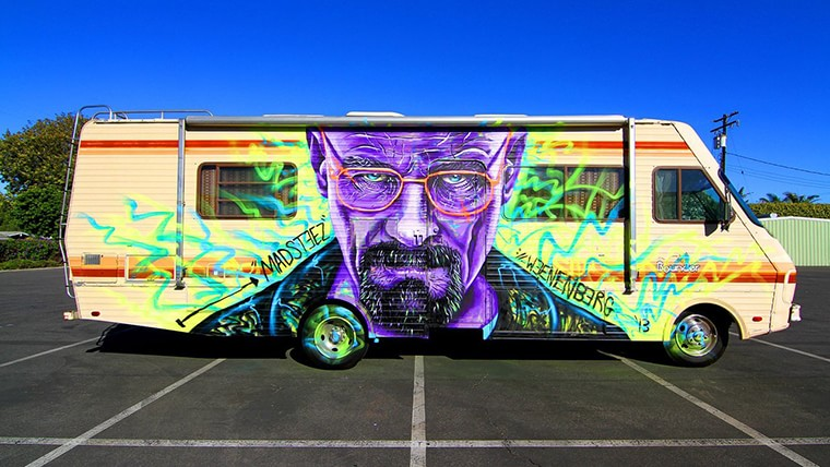 breaking bad street art