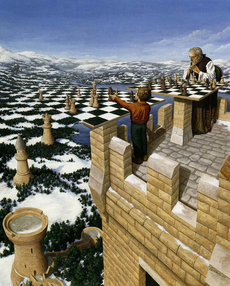 Illusion Robert Gonsalves echec et mat