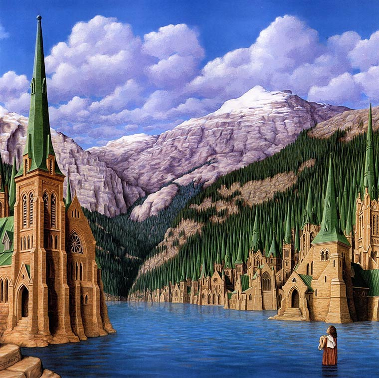 Illusion Robert Gonsalves foret de spapins ou chapelle