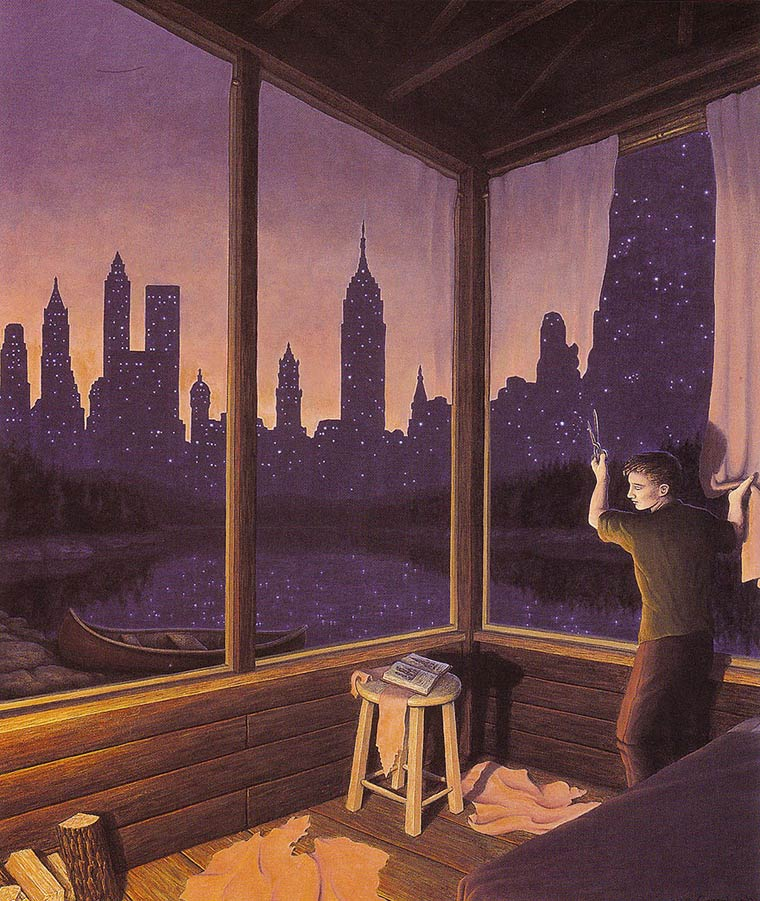 Illusion Robert Gonsalves new york city ou ciel etoilee