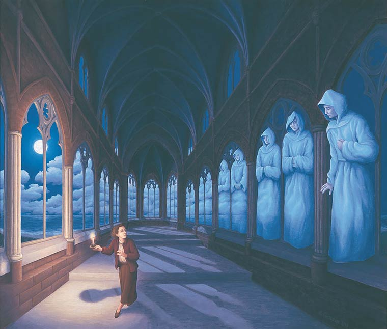 Illusion Robert Gonsalves nuages ou moines
