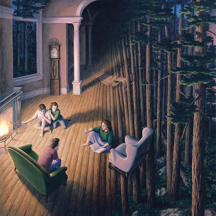 Illusion Robert Gonsalves parquet en arbres