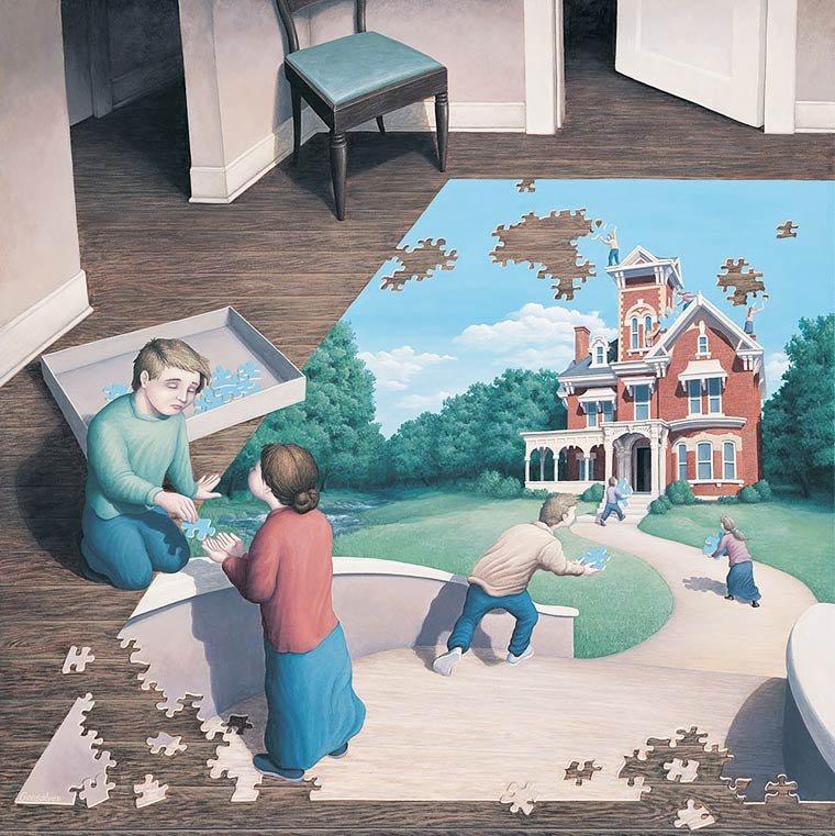 Illusion Robert Gonsalves puzzle pour enfant