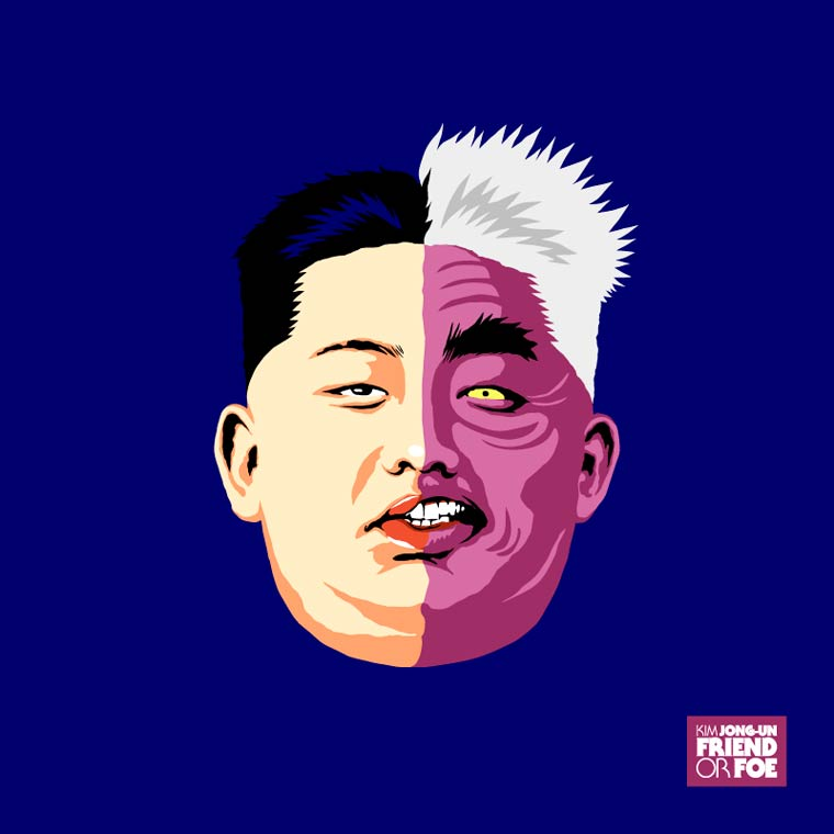 kim jong un batman double face