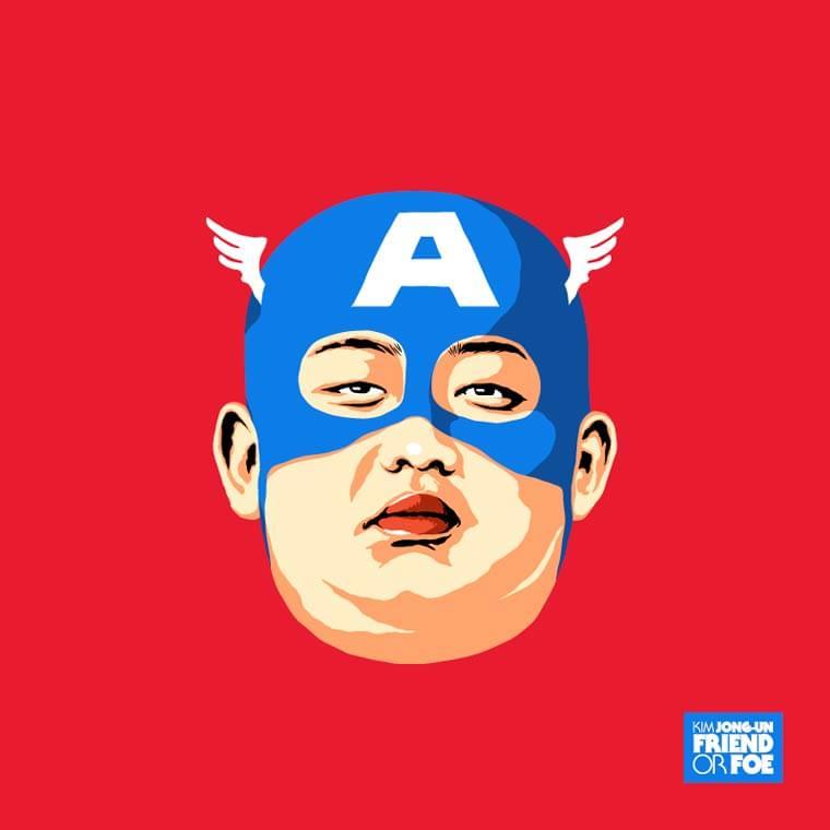 kim jong un capitaine america