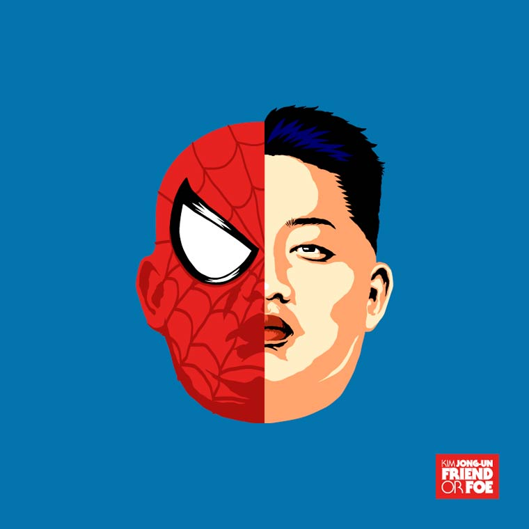 kim jong un spiderman marvel