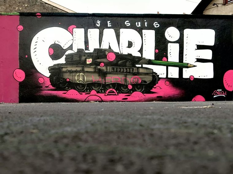 street art je suis charlie