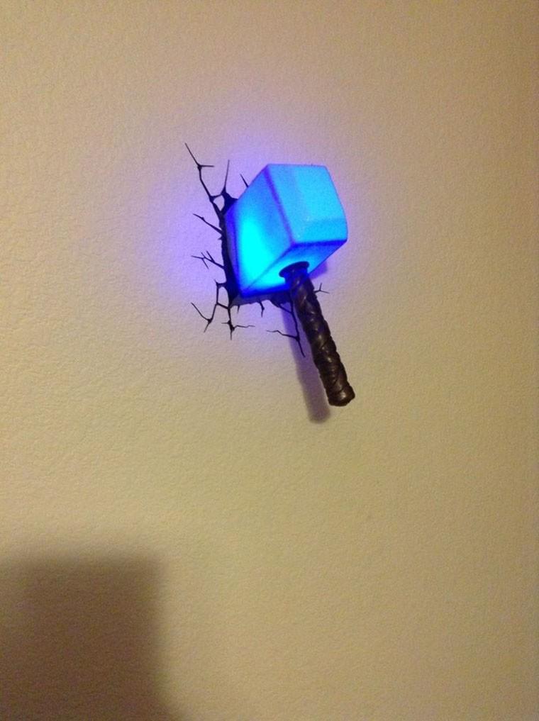 avengers le marteau de thor lampe LED