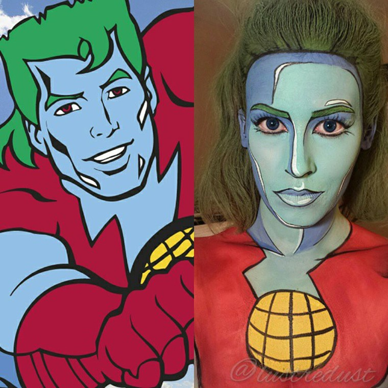 body painting captain planet