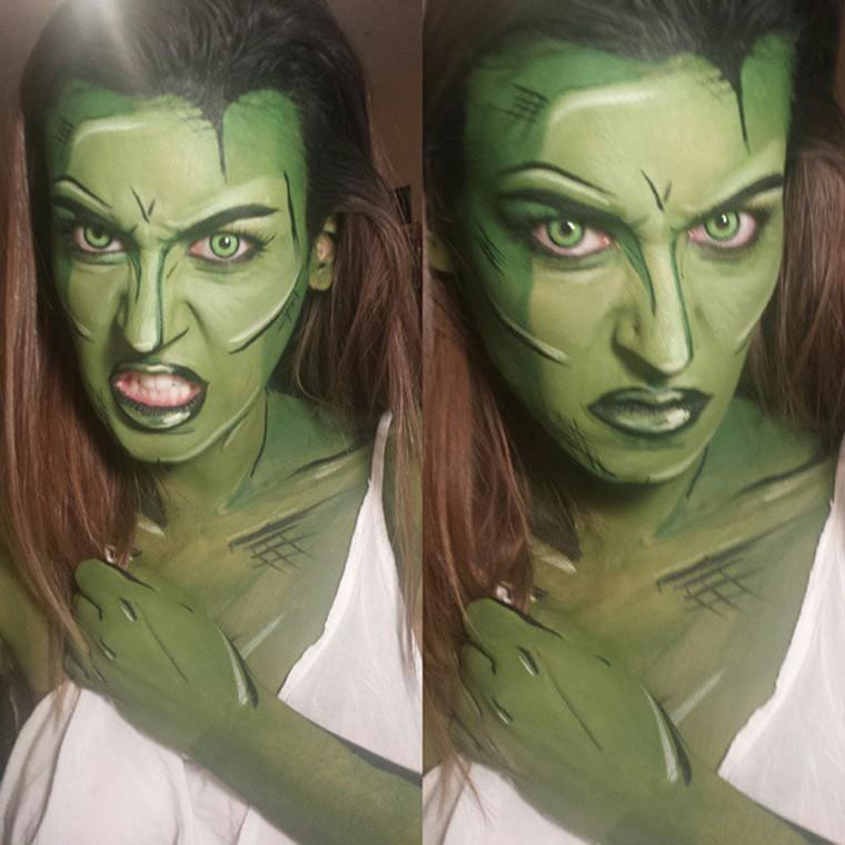 body painting she hulk