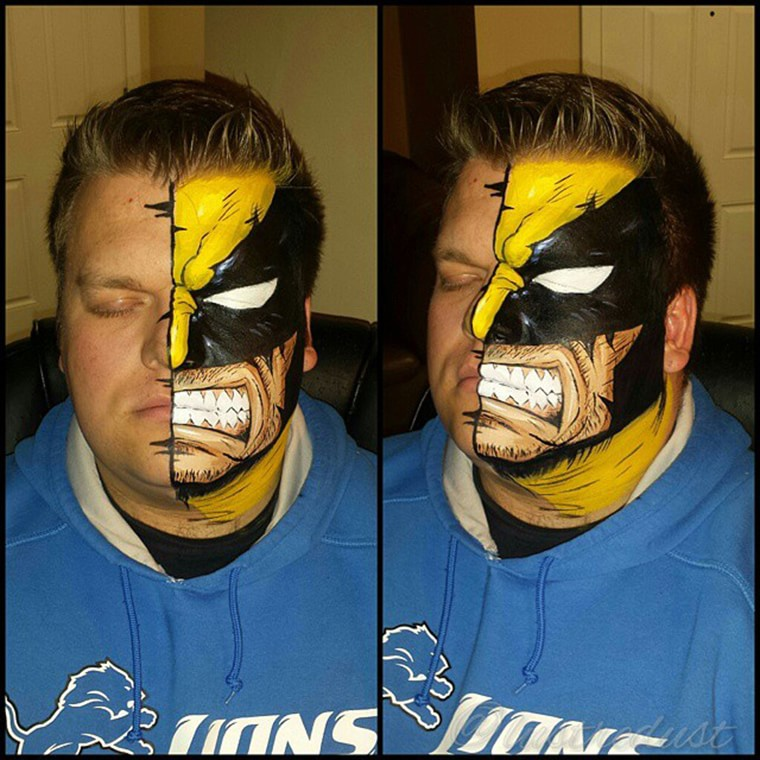 body painting wolverine