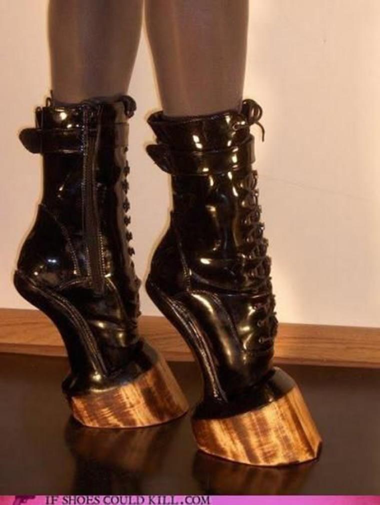 chaussures talon sabot cheval