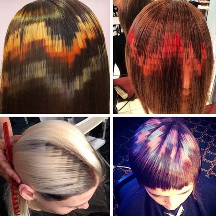 cheveux pixels