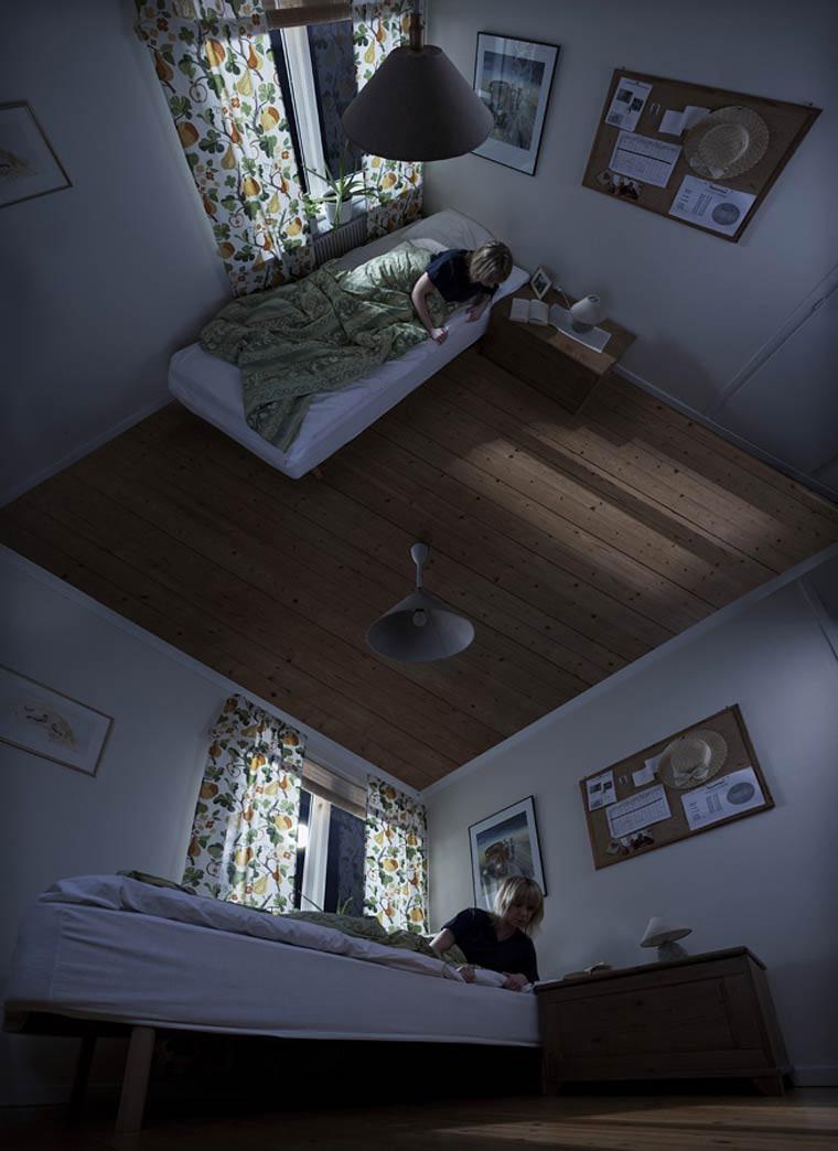 Erik Johansson etrange perspective chambre