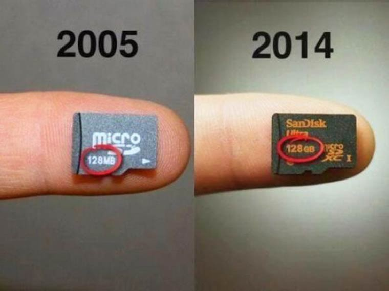 evolution micro sd 125 MB a 125 GB