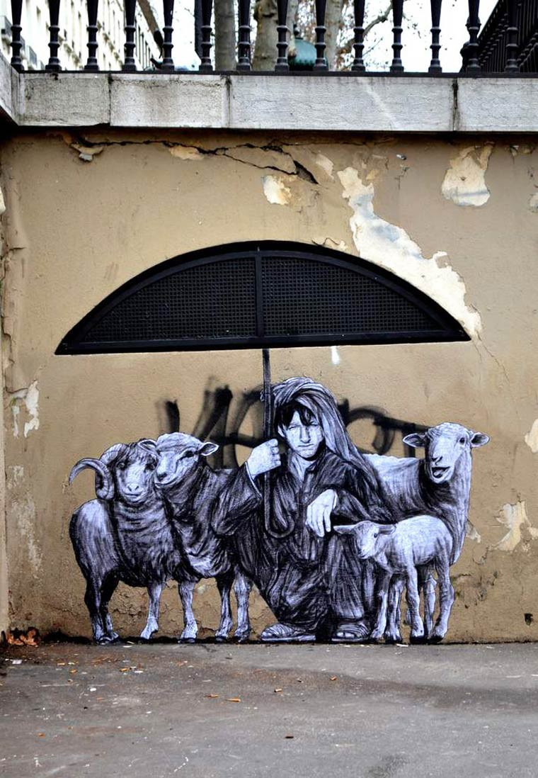 Levalet street art berger