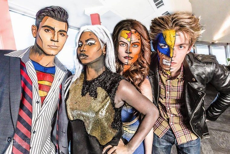 Lianne moseley with her super heroes 2