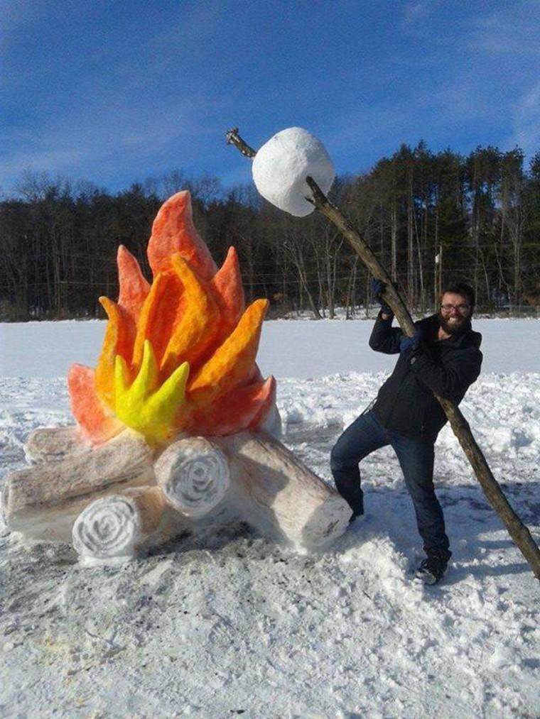 marshmallow en neige