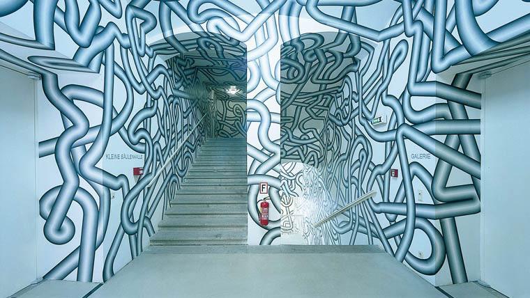 Peter Kogler art hall
