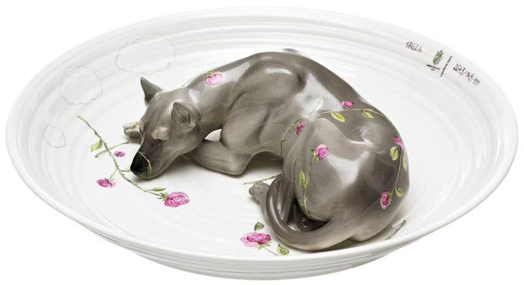 Hella Jongerius chien ceramic porcelaine