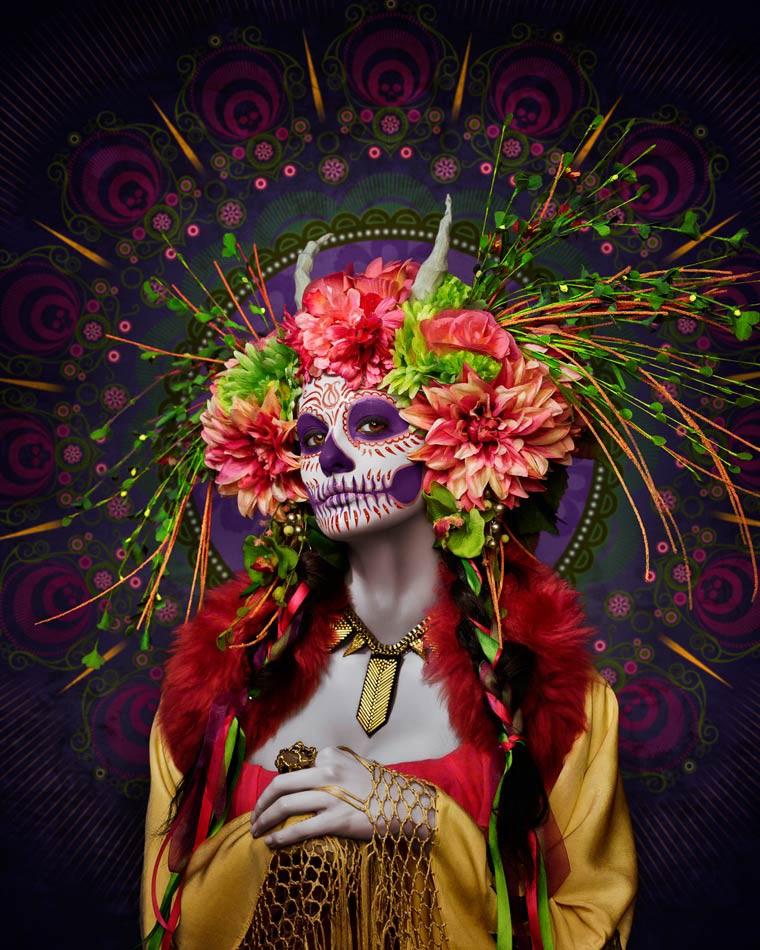 Las Muertas Tim Tadder le jour des morts mexique