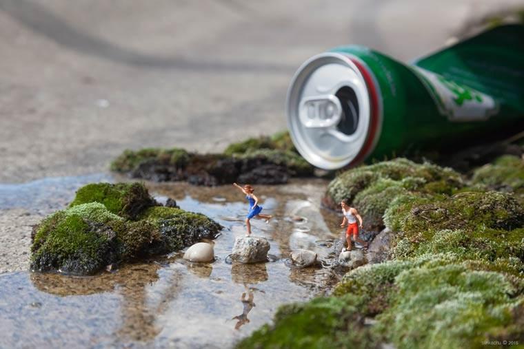 miniaturesque slinkachu street art esquimo riviere de biere 1