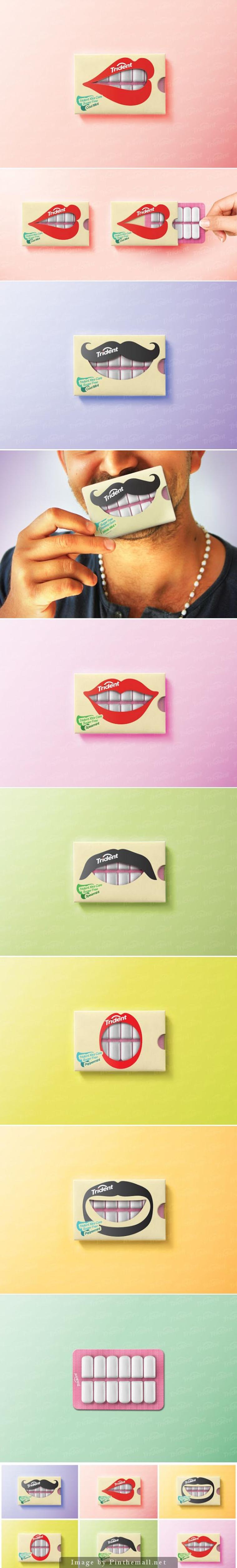 publicite packaging original trident